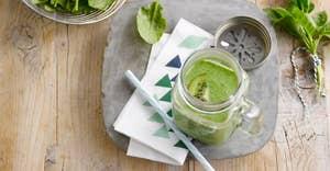 Groene smoothie met extra proteïnen