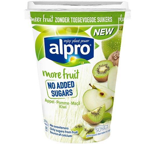 Nieuw: Alpro More Fruit No Added Sugars Appel-Kiwi