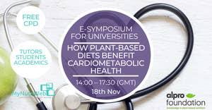 18 november Alpro Foundation e-Symposium: How Plant-based diets benefit cardiometabolic health