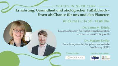 Symposium: Ernährung und ökologischer Fußabdruck: Essen als Chance für die Zukunft
