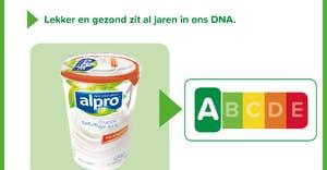 92% van de Alpro producten heeft Nutri-Score A&B
