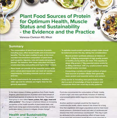 Plant food sources of protein for optimum health & muscle status.