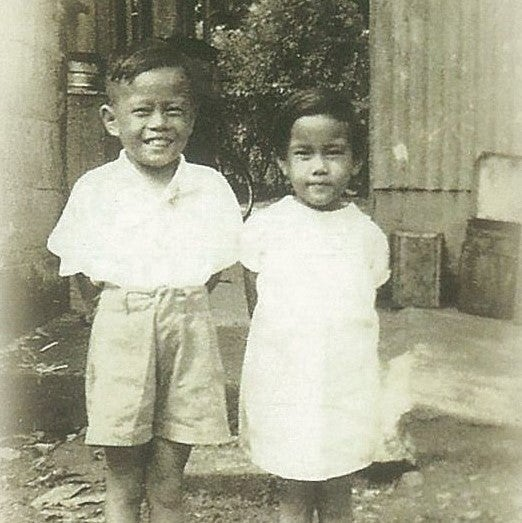 King Fong and his sister in Fiji (1946)