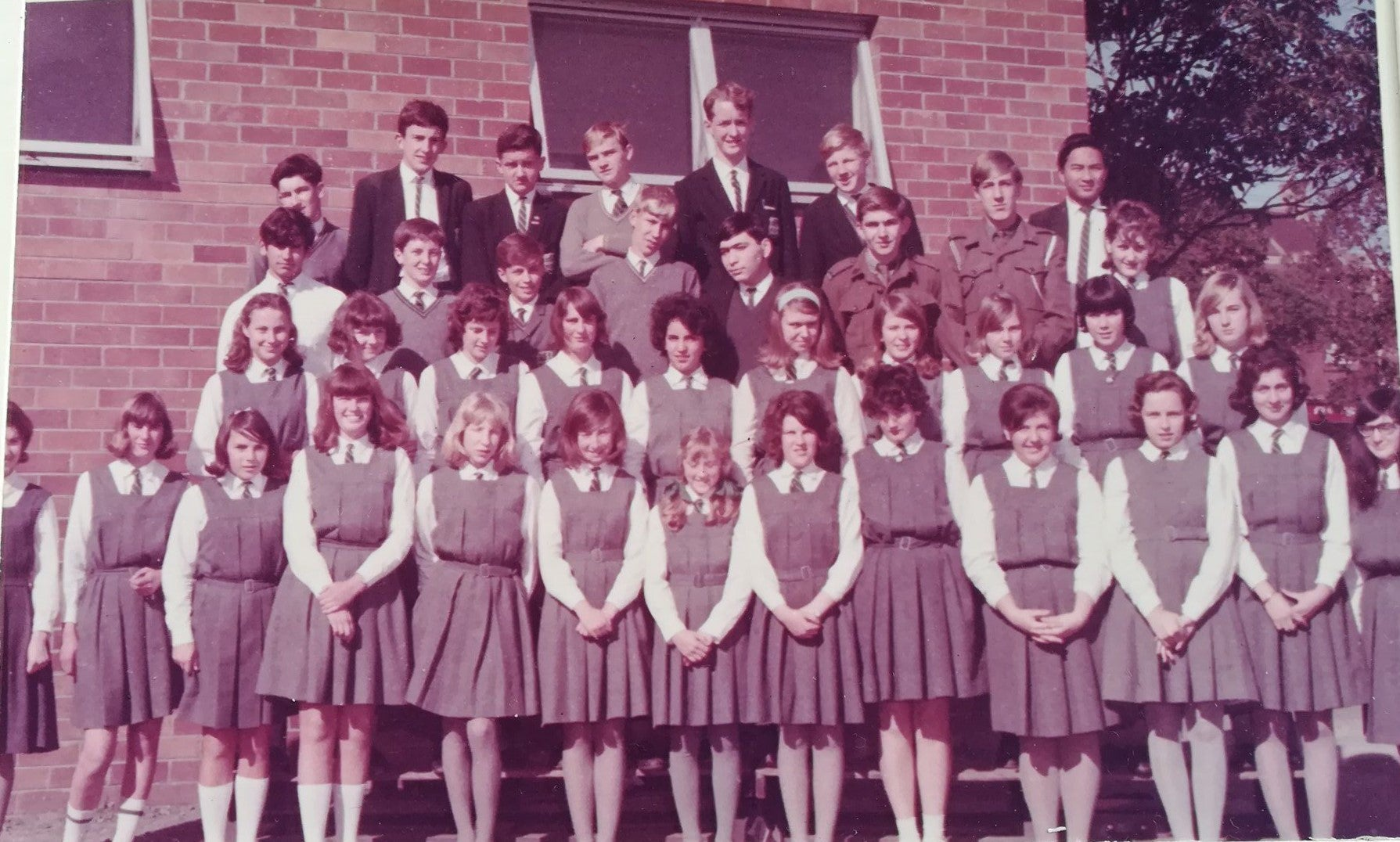 Douglas Lam and his schoolmates from Mosman High School (1965)