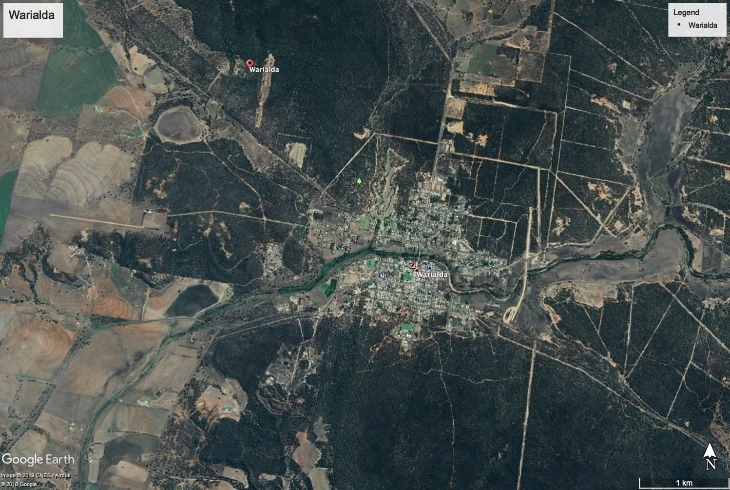 The town of Warialda on the Northern Tablelands of New South Wales