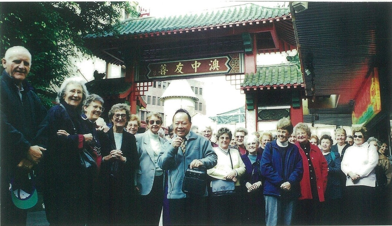 King Fong has been the guide for Sydney Chinatown walking tour since 1980s