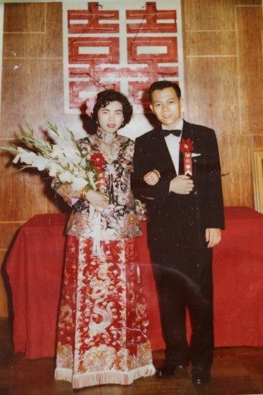 King Fong and Kathy Leong married in Hong Kong (1959)