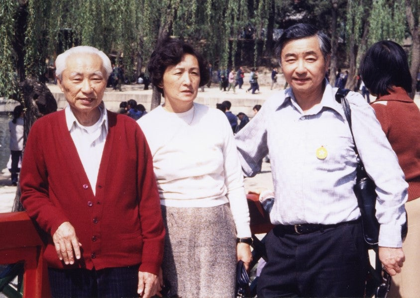 Stanley, Valmai and his father travelled to China (1983)