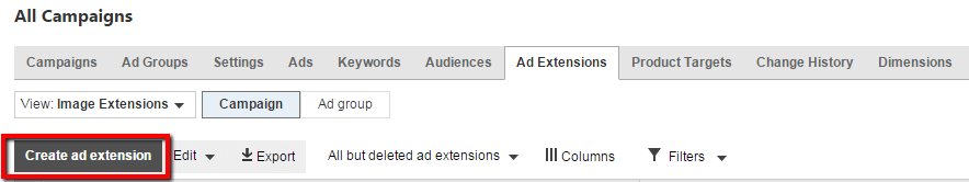 Set Up Bing Image Ad Extensions Step Two