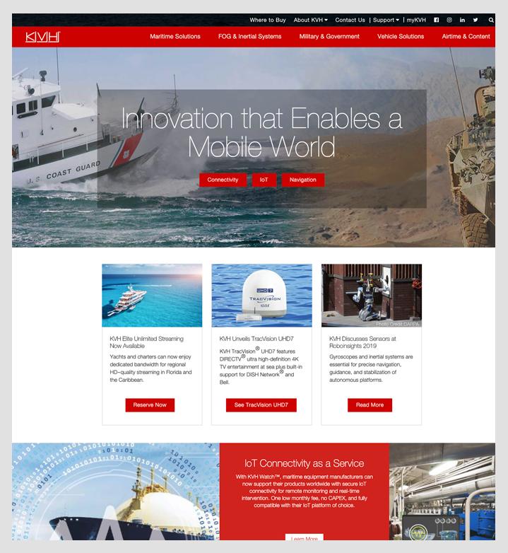 KVH home page
