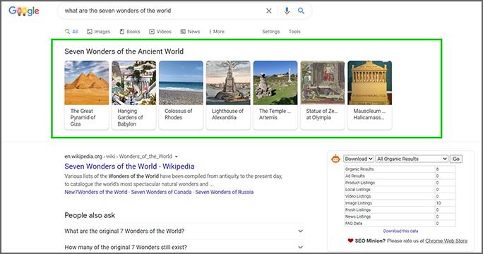 Zero Click Search