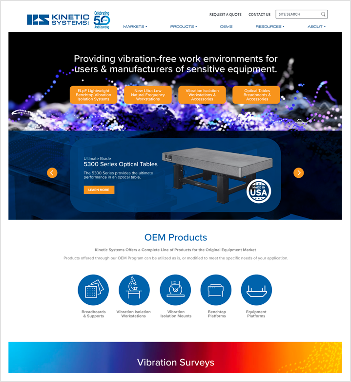 Kinetic Systems Home page