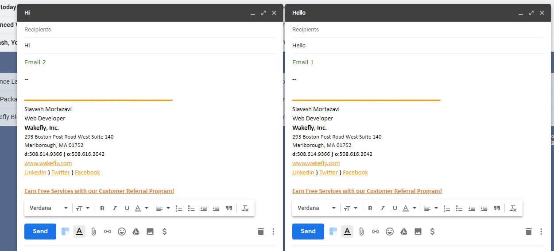 gmail multiple compose box