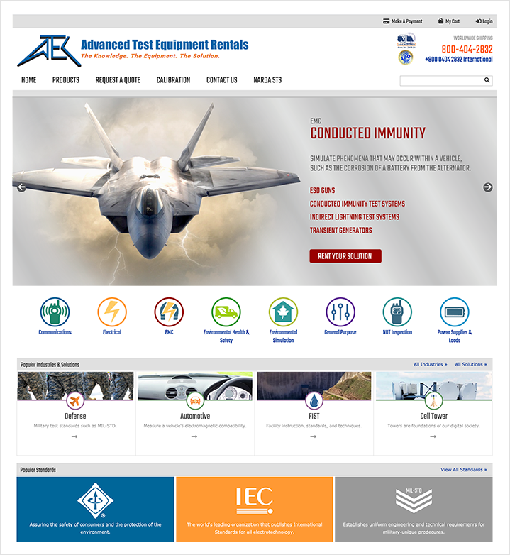 ATECorp homepage