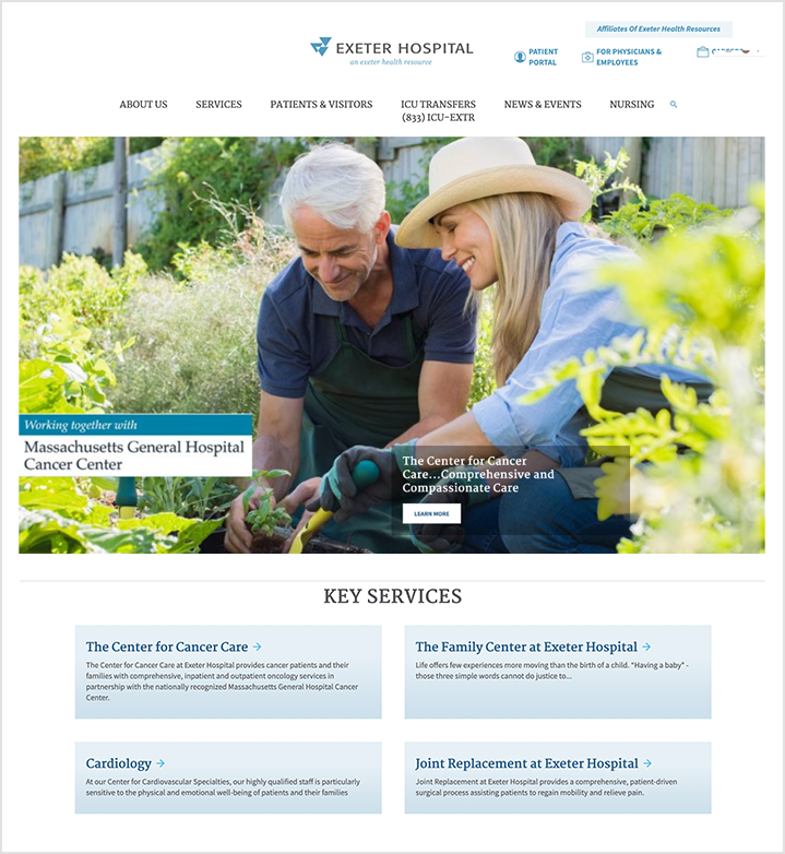 exeter hospital home page