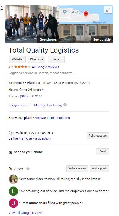TQL Google Search