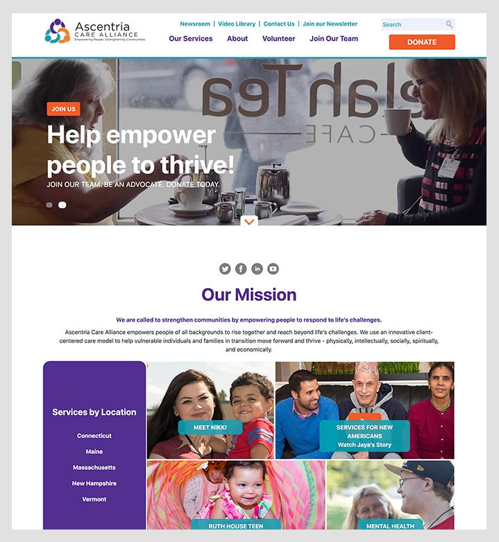 Ascentria homepage