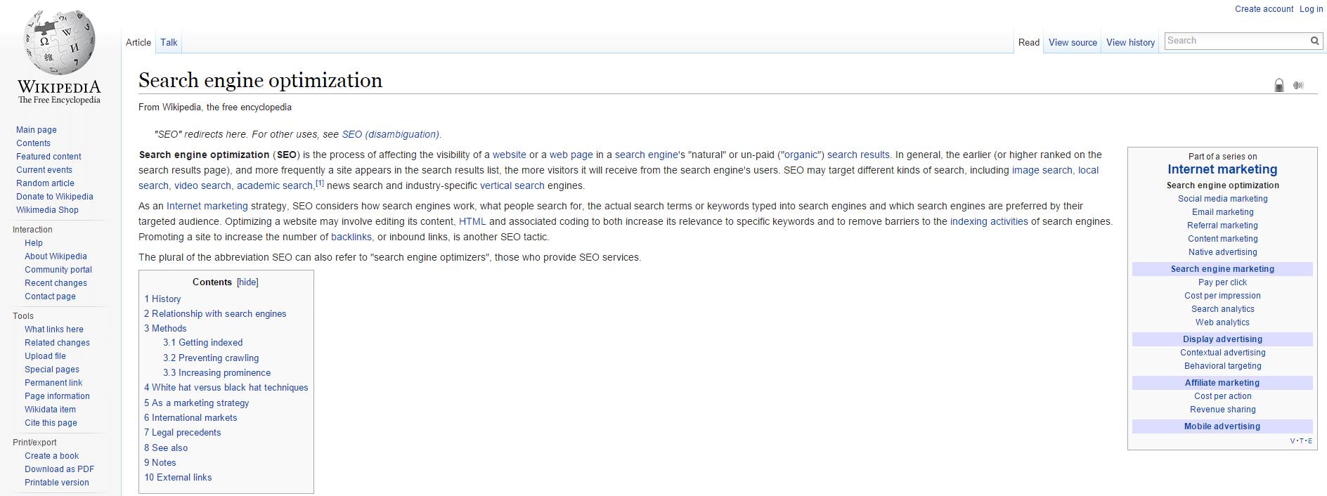 Using Wikipedia for SEO