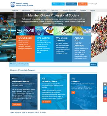 AVS Home Page screenshot