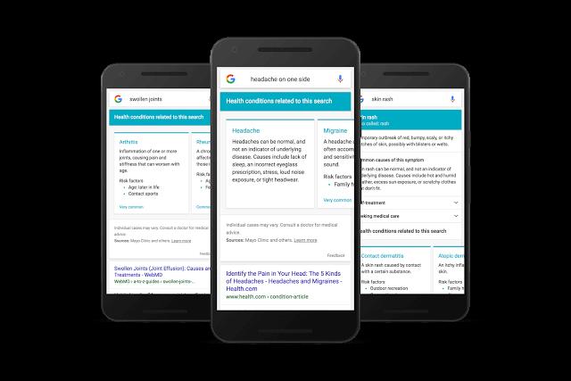 google symptoms search example