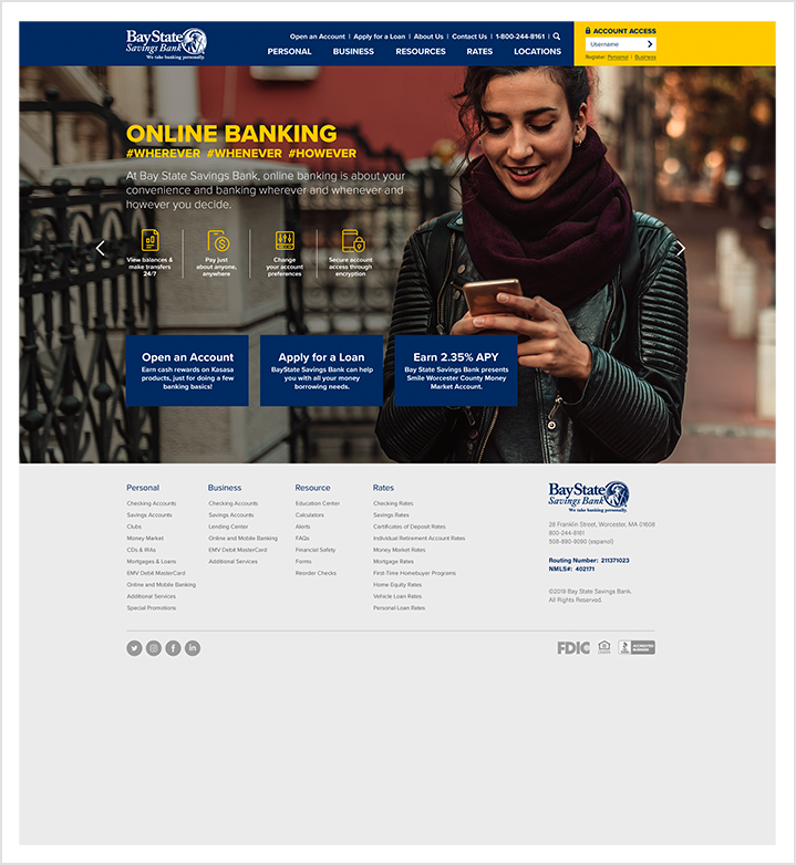 bay state savings bank homepage