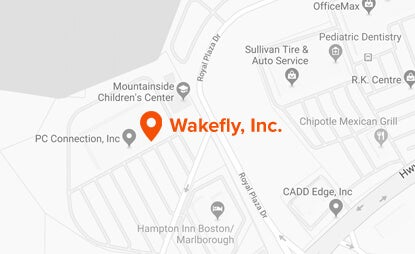 Map, location of Wakefly, Inc., overhead view