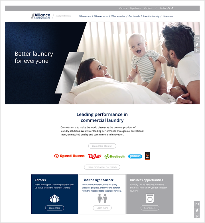 Alliance Laundry Systems - homepage