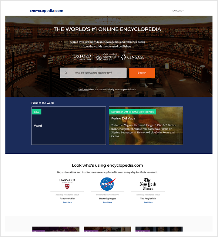 encyclopedia home page