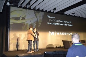 Wakefly's Ren Lacerda Receiving Searchie Award at C3