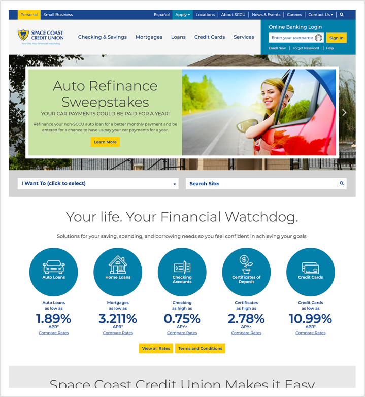 space coast credit union - home page