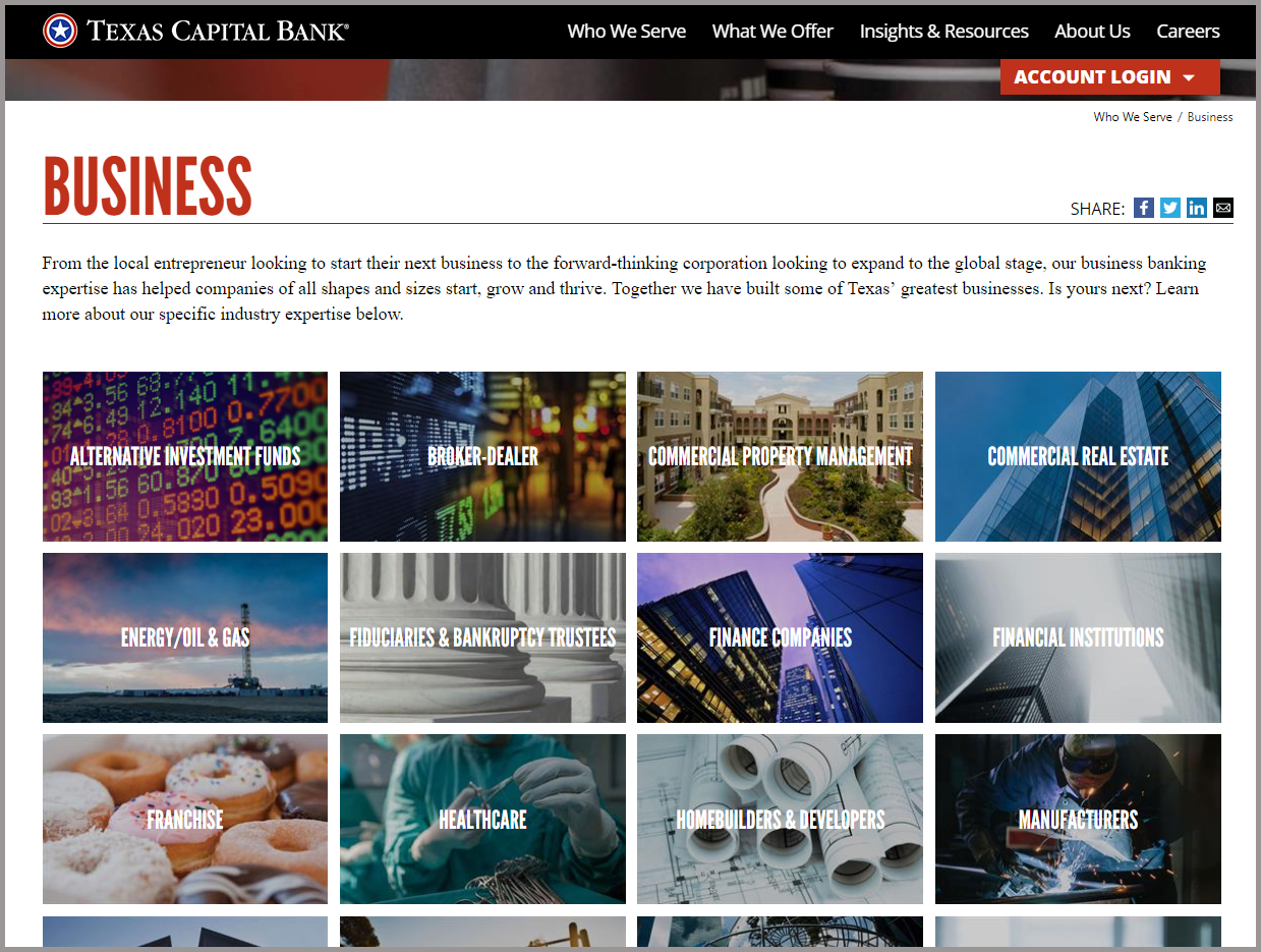 Texas Capital Industry Page