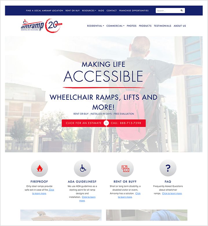 Amramp homepage