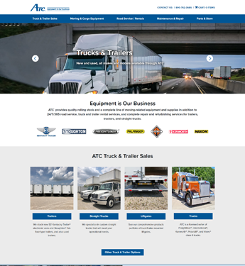 Atlas Terminal Home Page Screenshot