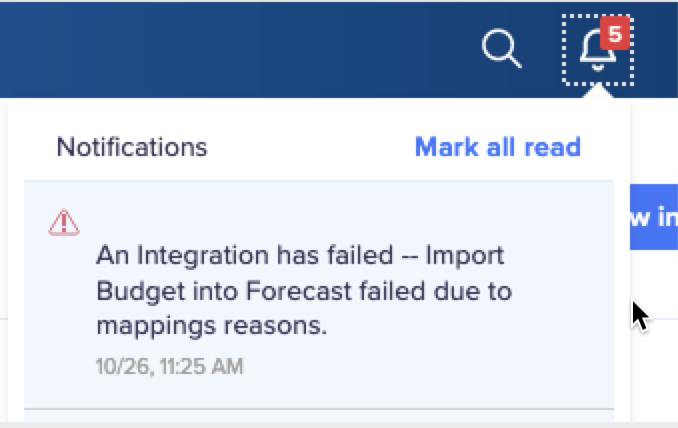 Integration failure due to mapping.