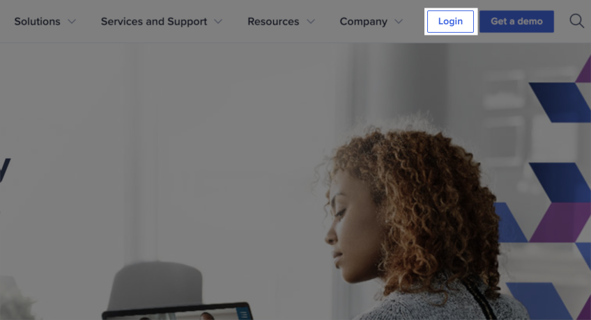 The Anaplan homepage displays and the Login button is highlighted.