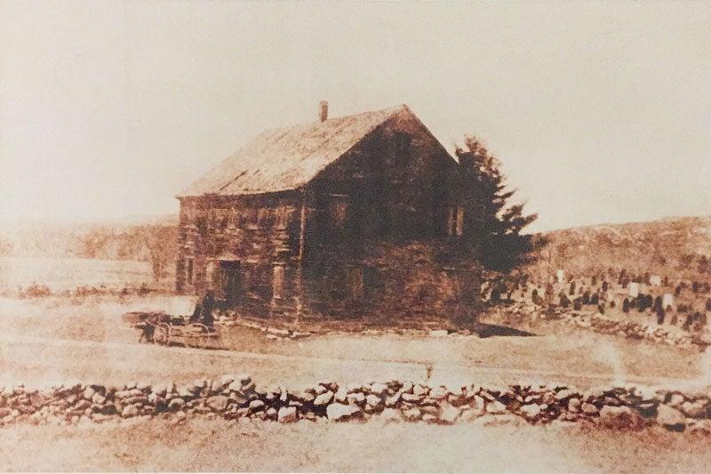 The original meetinghouse built in 1771