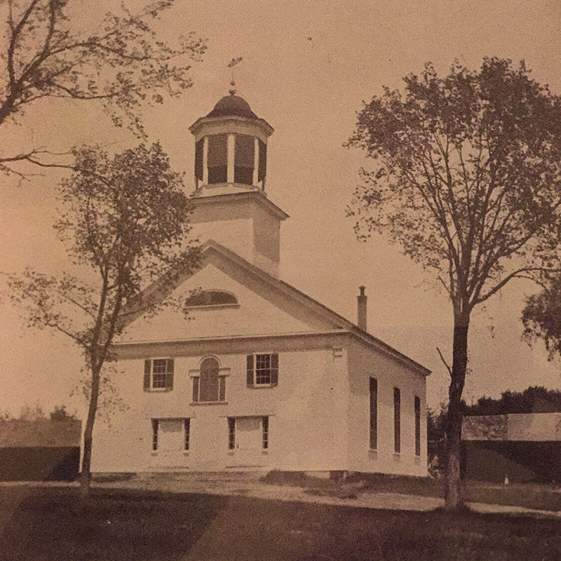 The current meetinghouse as first built