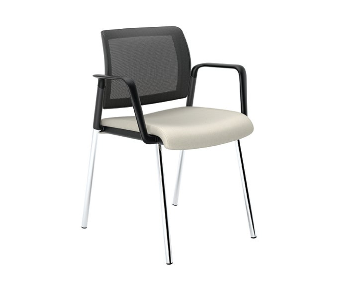 Image of 1271-1190-3041 (Guest - Mesh - Upholstered - Arms - Polished Base - Static-).jpg