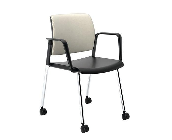 Image of 1271-1190-3048 (Guest - Upholstered - Plastic - Arms - Polished Base - Mobile-).jpg