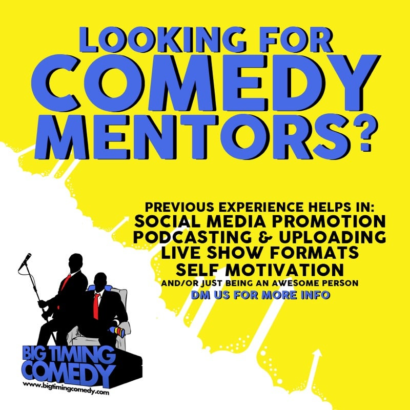 Looking for Comedy Mentors?