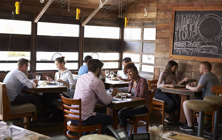 people inside a restaurant in brandon florida