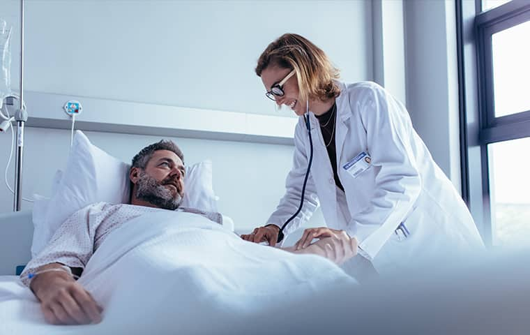 doctor and patient in a hospital in brandon florida