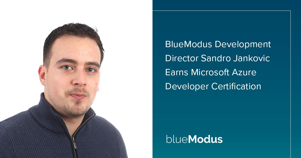 Sandro Jankovic Earns Microsoft Azure Developer Associate Certification