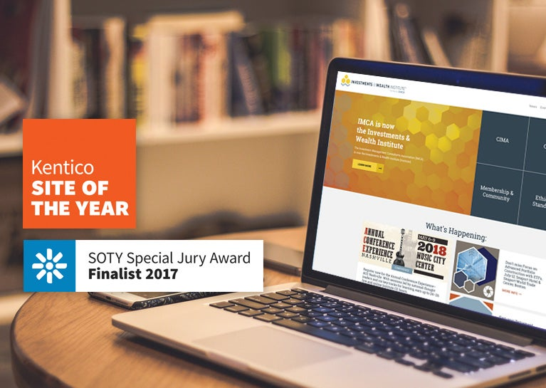 Institute Website Named a Finalist for Kentico Site of the Year