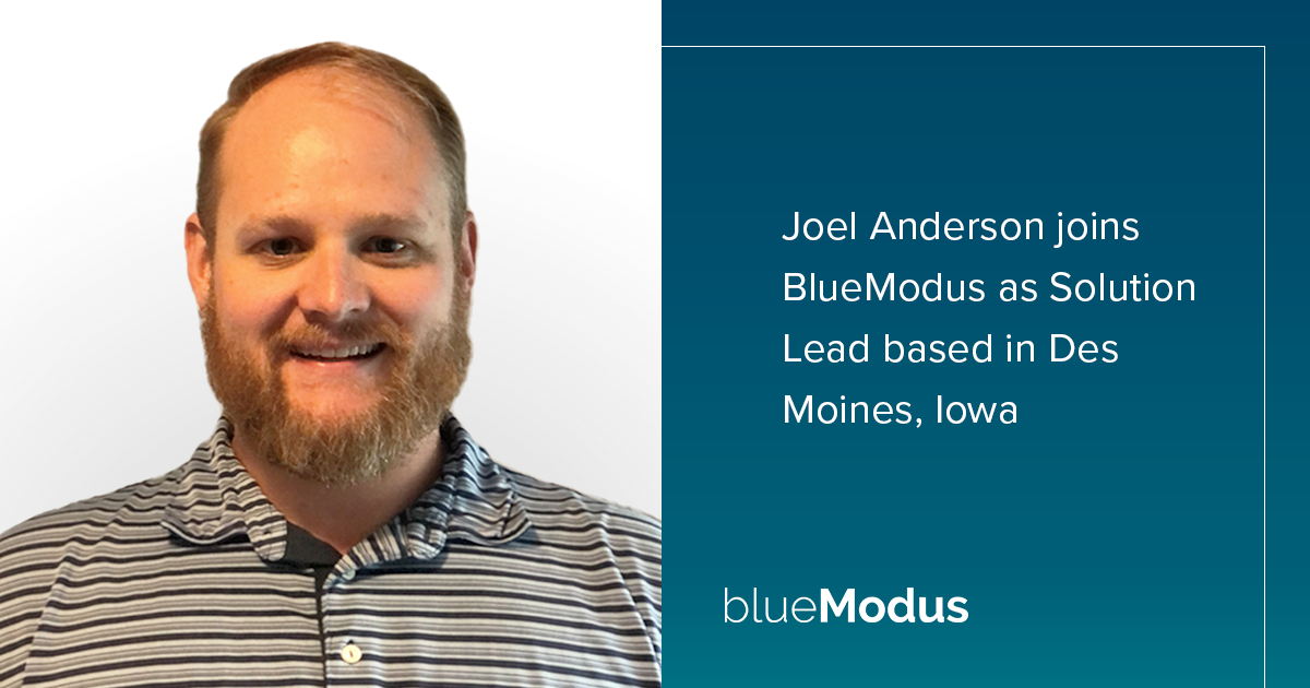 Joel Anderson Brings Technical Expertise to BlueModus