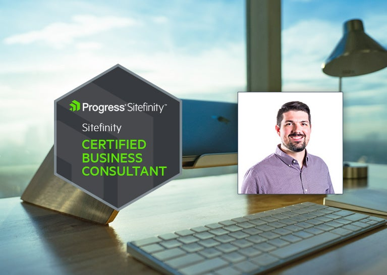 Brant Cline Renews Sitefinity Business Consultant Credentials