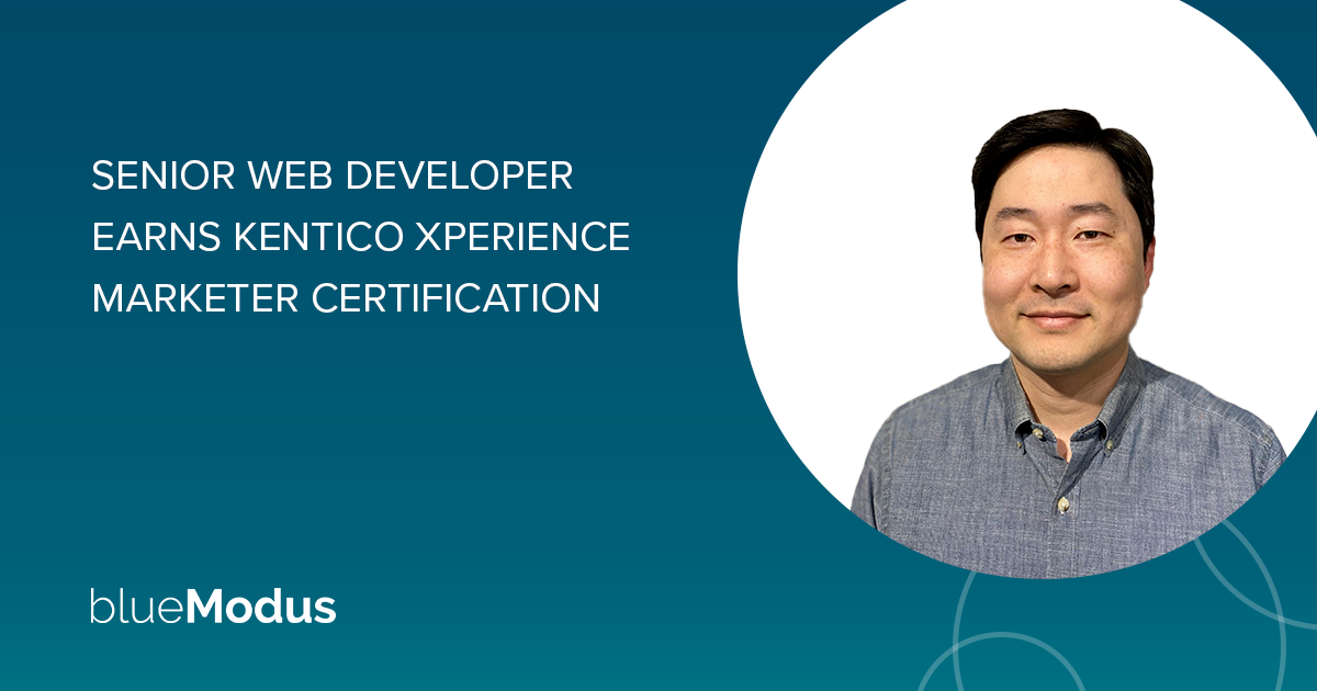 Ivan Jung Earns Kentico Xperience Certification