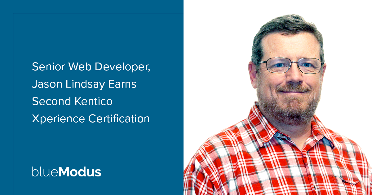 Jason Lindsay Adds Second Kentico Xperience Certification