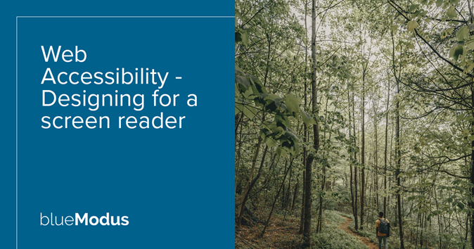 Web Accessibility – Designing for a Screen Reader