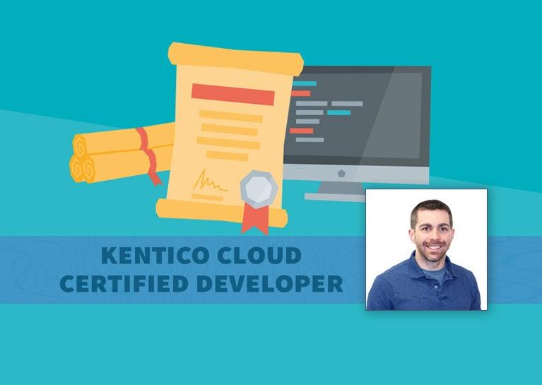 David Rector Achieves Kentico Cloud Developer Certification